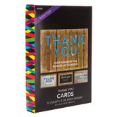 Wood Plank Thank You Cards